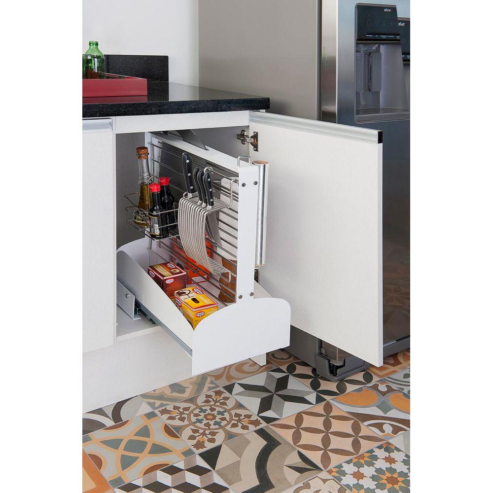 Coluna Organizadora Para Cozinha Branca Gasometro