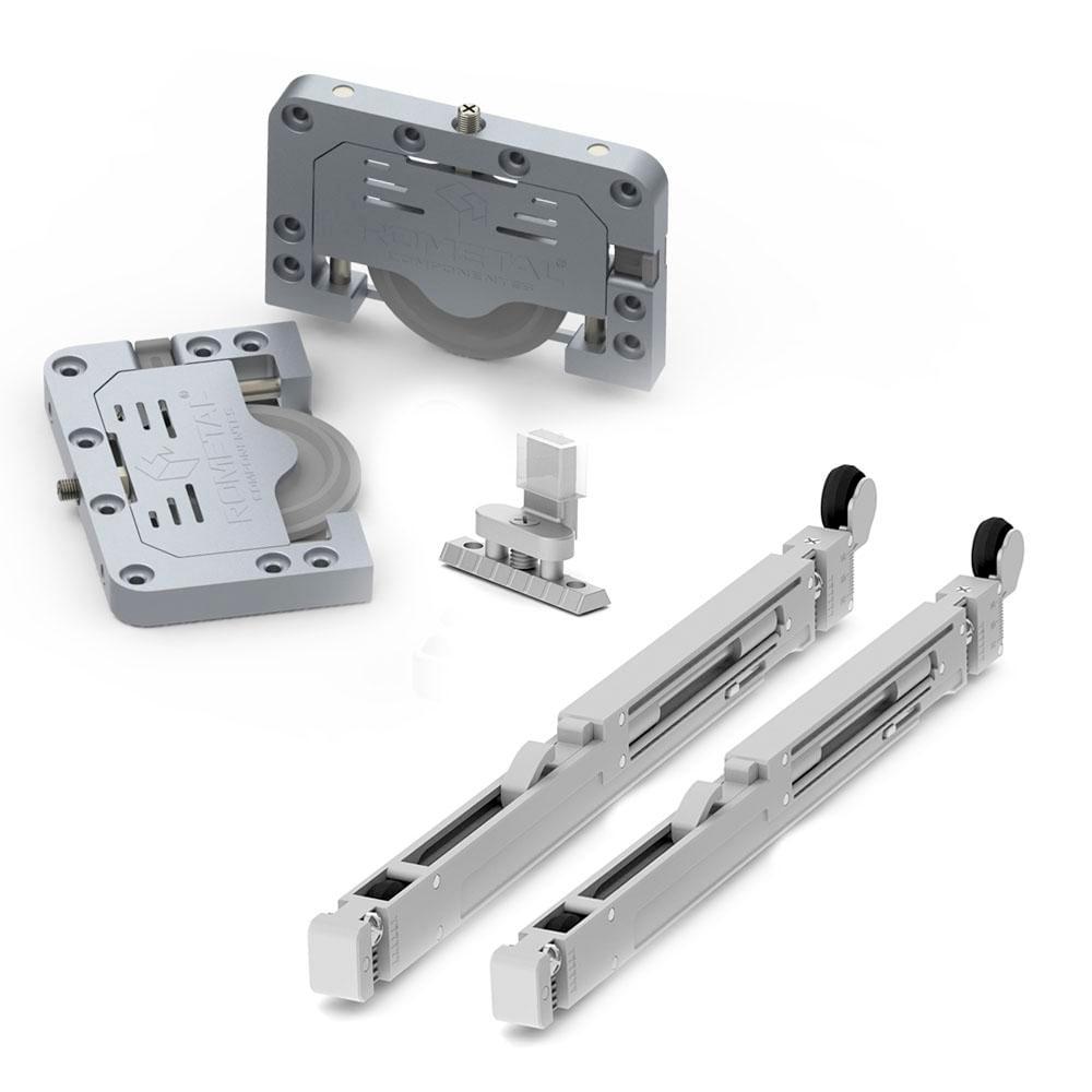 06851b97e Sistema Deslizante para portas de correr RB 68 VR300 para 02 Portas ...