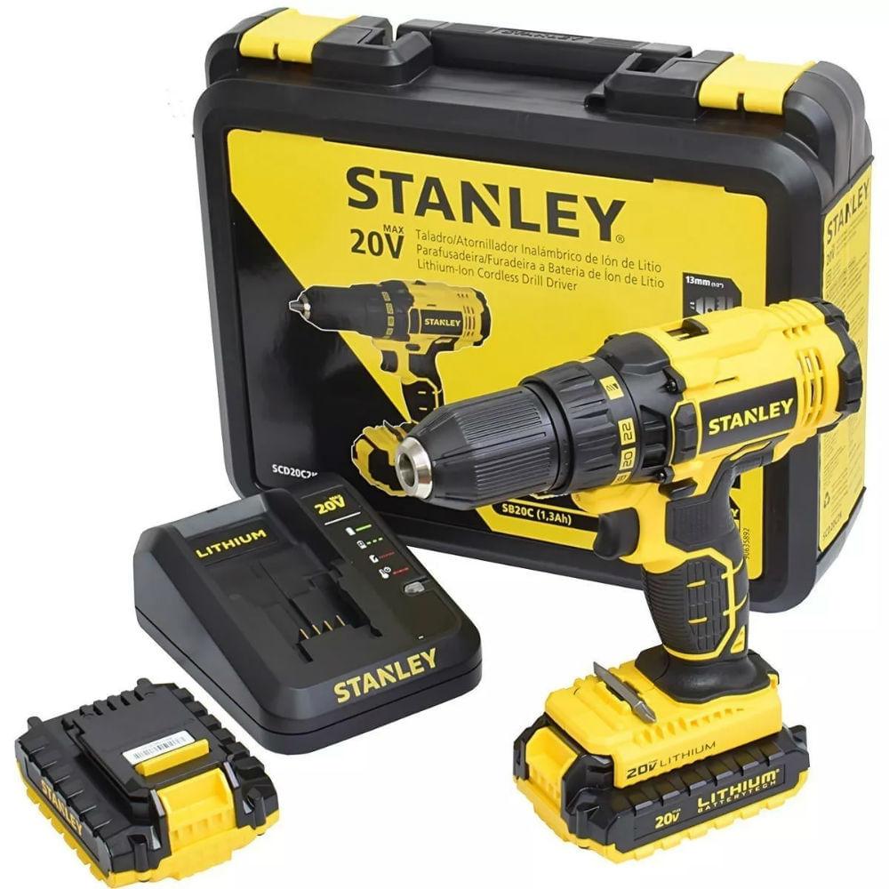 Furadeira e Parafusadeira de Impacto 1 2 pol. Bateria 20V SCH20C2K Stanley  - Bivolt dc60422d8ba