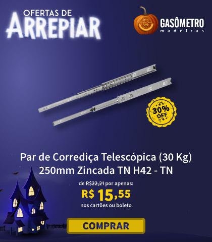 Corrediça Telescópica 25cm